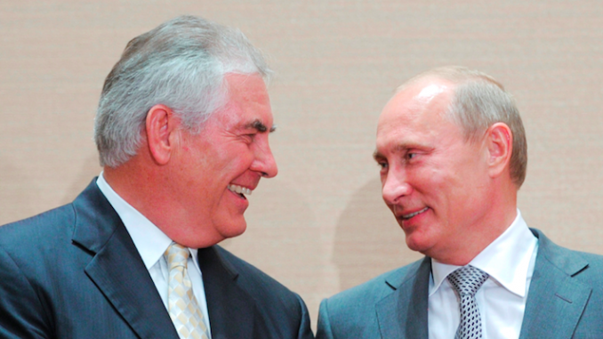 Tillerson and Putin during better times.