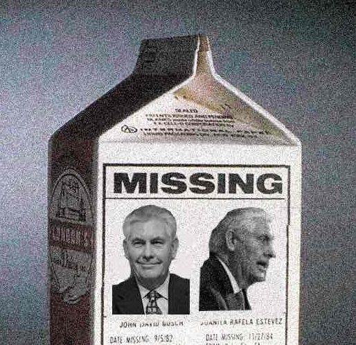 Rex Tillerson is Missing