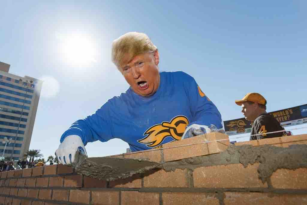 Trump Starts Border Wall Himself!