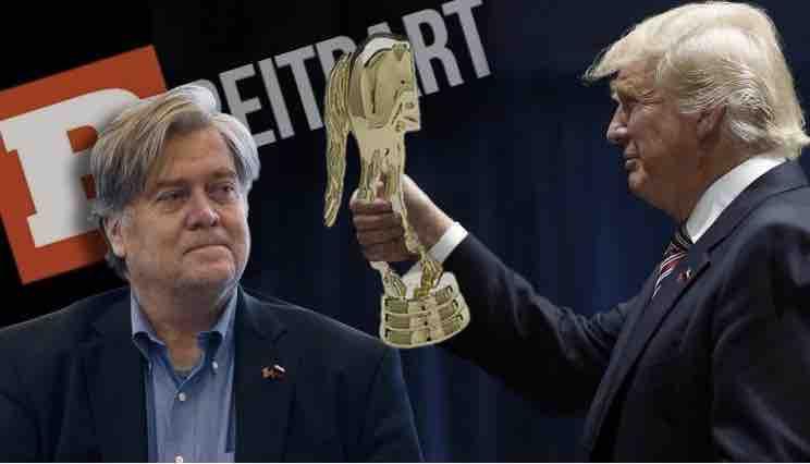 Trump awards Bannon Golden Ass!