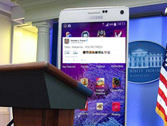 Trump Fires Spicer and Conway, Hires Galaxy Note 4 as Spokesmen!