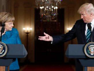 "Trump shows Merkel his ""Pay Up Sucker Tattoo!"""