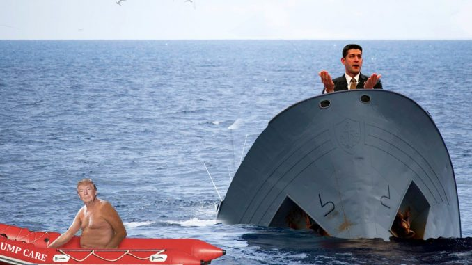 Trump Care Sinking, It's Ryan's Fault.