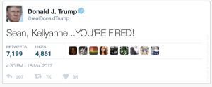 Spicer Conway Fired Tweet