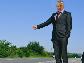 Tillerson Hitchhiking to Save Money.