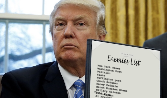 Trump With Enemies List