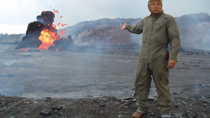 Trump in Hawaii During Better Times.