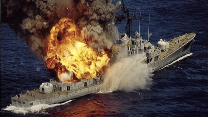 Uss TrumpCare Burning Out of Control.