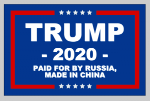 Trump 2020 Flag, made in China
