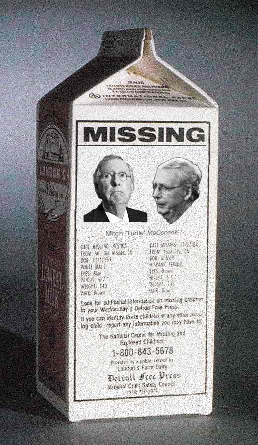 Mitch McConnell has gone Missing!
